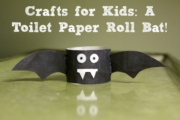 Toilet paper roll crafts Bat