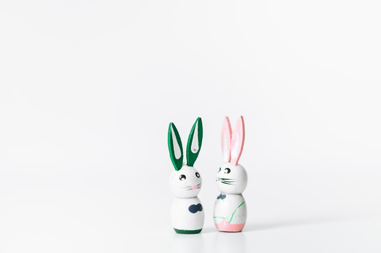 Easter craft for kids Easter bunny figurine