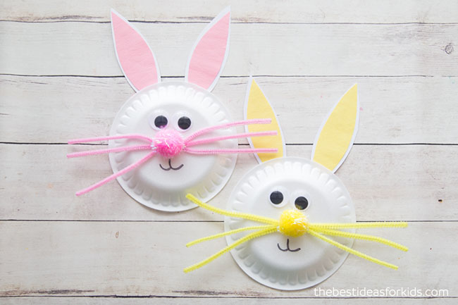 paper plate crafts Easter bunny