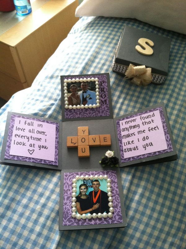 DIY gifts for boyfriend Exploding photo box