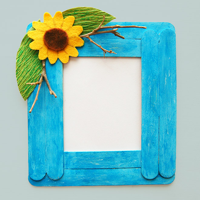Popsicle sticks crafts for kids Frame