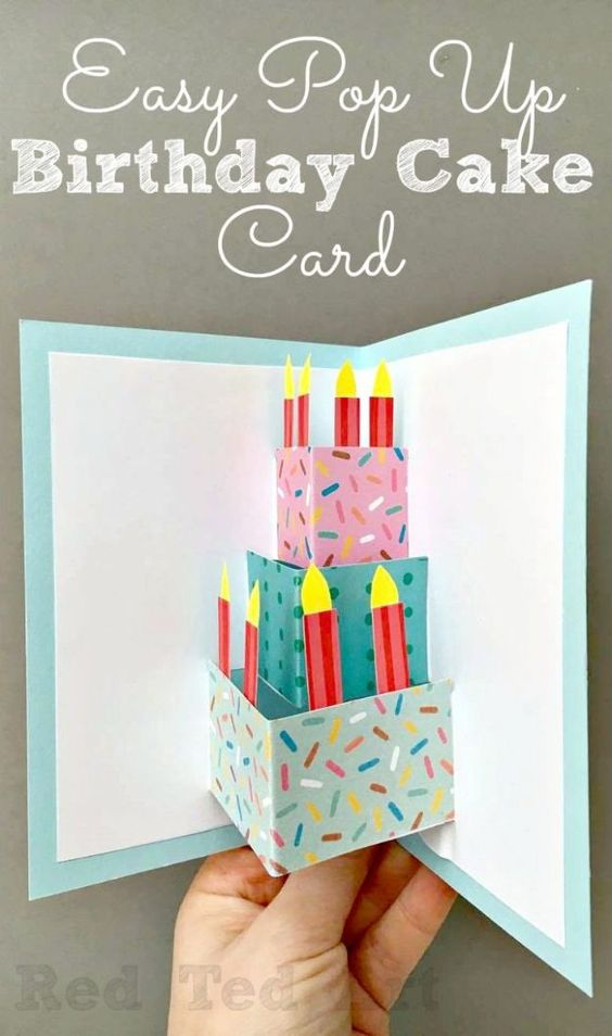 Birthday card ideas Pop-up Cake