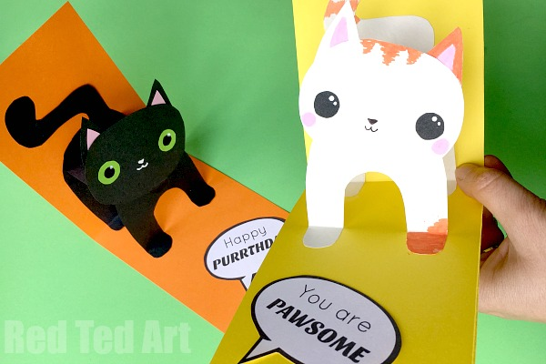 Pop-up Cat Birthday card ideas