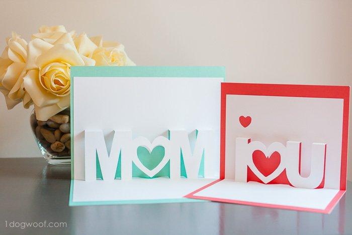 Birthday card ideas Pop-up Mom