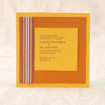 DIY wedding invitations Simple Ribbon Design