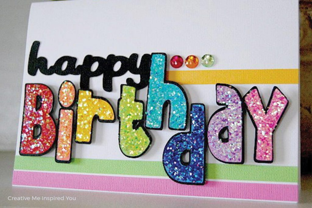 birthday card ideas with sparkles