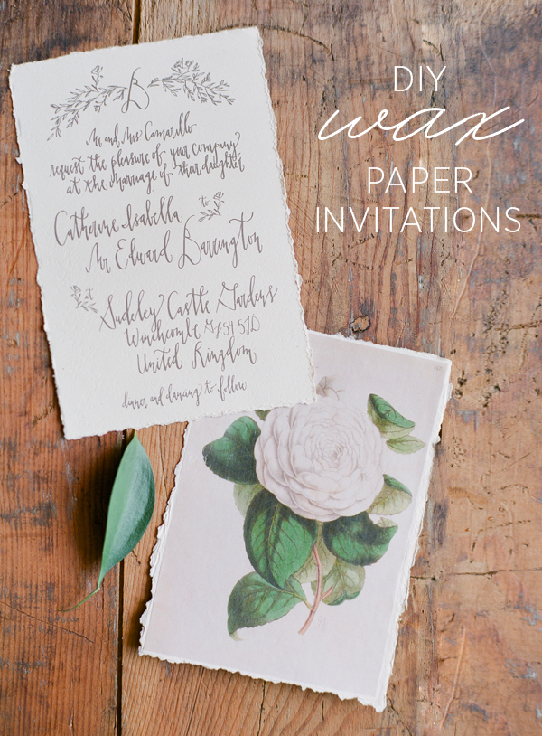 Stylish Wax Paper Invite