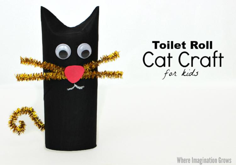 Halloween Crafts for Preschoolers black cat