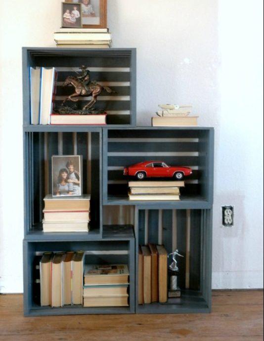 crates bookshelf