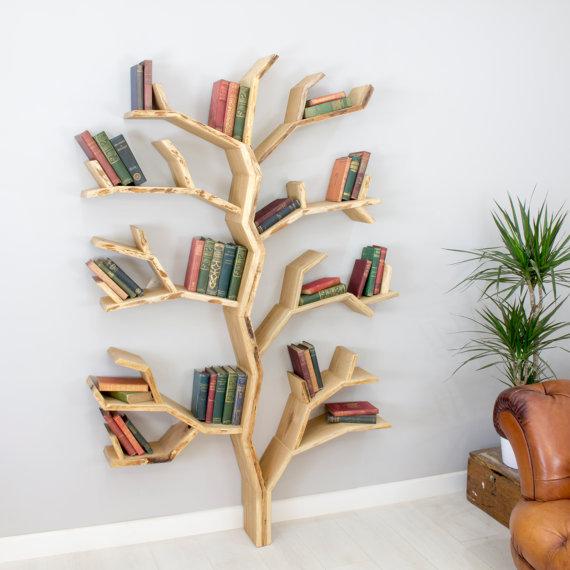 Elm Tree DIY Built-in Bookshelves