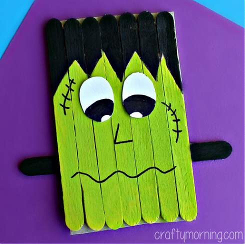 Halloween Crafts for Preschoolers Frankenstein