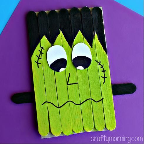 Halloween Crafts for Preschoolers Frankenstein