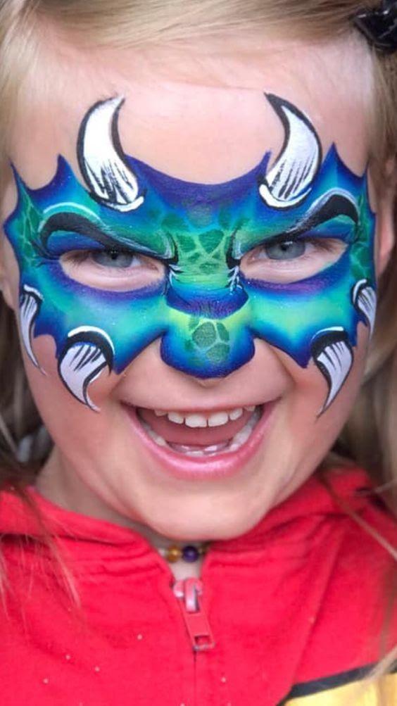 Dragon Face Paint Ideas