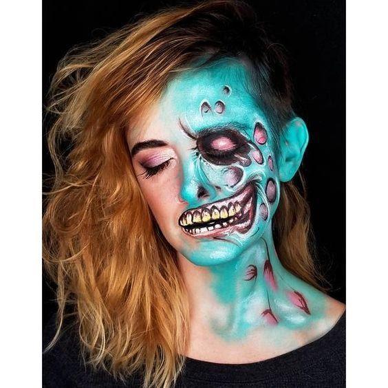 Zombie Face Paint Ideas
