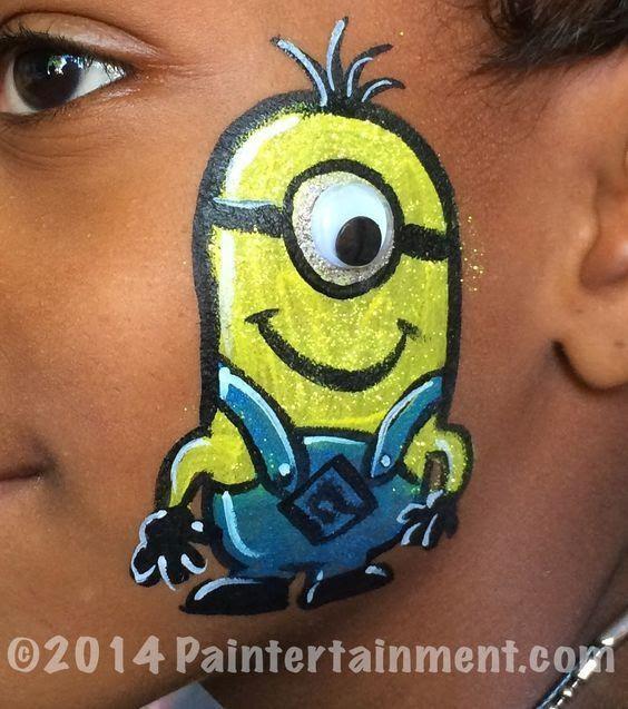 Minions Face Paint Ideas
