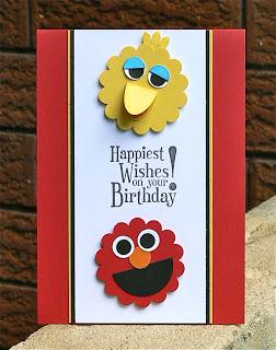Cartoon Characters Birthday Card