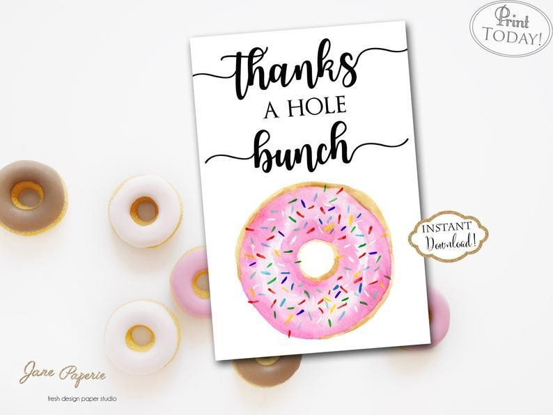 Doughnut Thank You Card