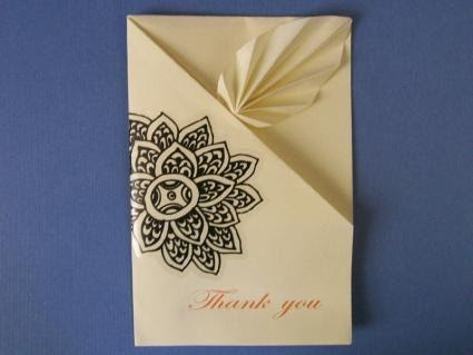 Origami DIY Thank You Cards