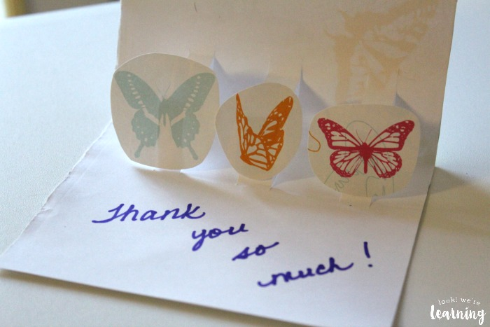Pop-Up DIY Thank You Cards