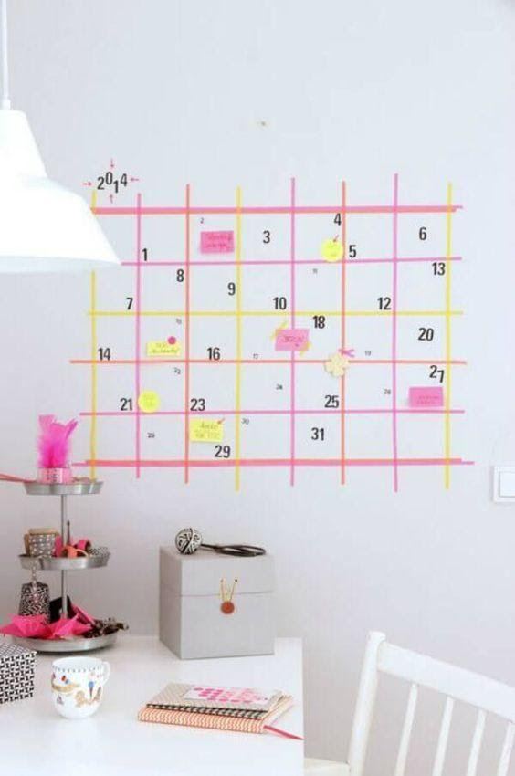 Washi Tape Wall Calendar