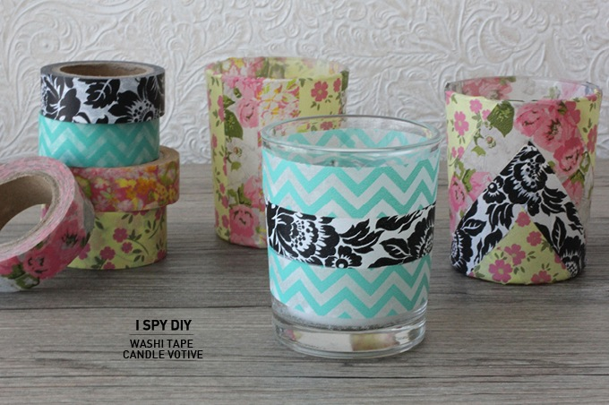 Washi Tape Candle Votive